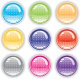 Positionnement perforé coloré de bouton Photographie stock libre de droits