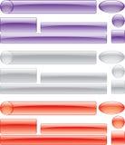 Positionnement perforé coloré de bouton Image stock