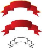 positionnement rouge de bande Image stock