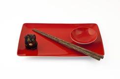 Positionnement rouge de sushi Image libre de droits