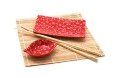 Positionnement rouge de sushi Photographie stock