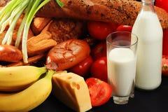 Positionnement sain de nourriture Image libre de droits