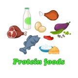 Positionnement sain de nourriture Photo stock