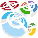 Positionnement sans fil de signal Images libres de droits