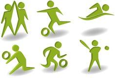 Positionnement sportif du graphisme 3D Images libres de droits