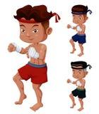 Positionnement thaï de boxe Images stock