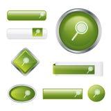 Positionnement vert lustré moderne de bouton de recherche Image libre de droits