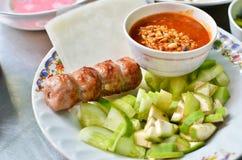 Positionnement vietnamien frais de nourriture de type Photos stock