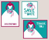 Positionnement Wedding illustration libre de droits