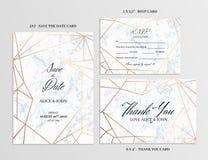 Positionnement Wedding Carde le calibre du dessin géométrique illustration stock