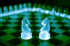 Positionnements d'échecs Photographie stock