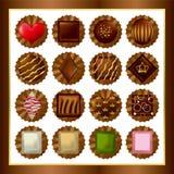 Positionnements de chocolat Photographie stock libre de droits