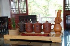 Positionnements de thé et cérémonie de thé image libre de droits