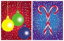 Positionnements de vecteur de cartes de Noël   Photographie stock