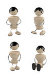 Positions. Different positions of boy. 3d model Stock Photo
