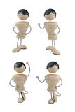 Positions. Different positions of boy. 3d model Stock Images