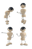 Positions. Different positions of boy. 3d model Royalty Free Stock Photography