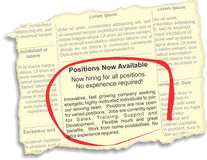 Positions Available Ad Royalty Free Stock Image