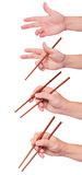 Positions chopstick sushi Royalty Free Stock Images
