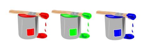 Positions de peinture de RVB Image libre de droits