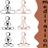 Positions de yoga Photos libres de droits