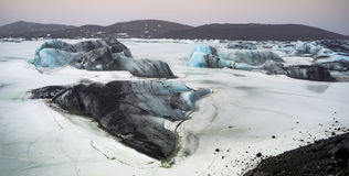 Positions islandaises - glacier photo libre de droits