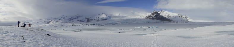 Positions islandaises - pano de glacier photo stock