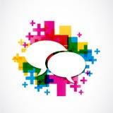 Positiv anförandegrupp för socialt massmedia Royaltyfria Foton