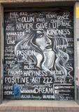 positiv konst 222, djupa Ellum, Texas för 42 väggmålning Fotografering för Bildbyråer