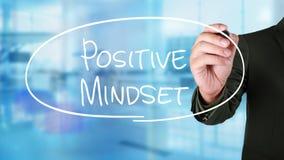 Positiv Mindset, Motivational ordcitationsteckenbegrepp royaltyfria bilder