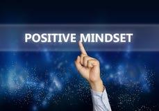 Positiv Mindset, Motivational ordcitationsteckenbegrepp arkivbilder