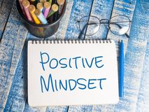 Positiv Mindset, Motivational ordcitationsteckenbegrepp stock illustrationer