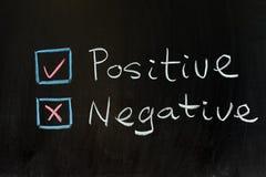 Positiv oder Negativ Lizenzfreie Stockfotos