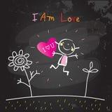 Positiv scherzt Bestätigungen, ich sind Liebe lizenzfreie abbildung