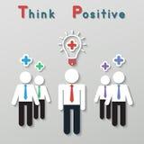 Positiv tänkande teamworkaffärsidé Arkivbilder