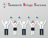 Positiv tänkande teamworkaffärsidé Royaltyfria Foton