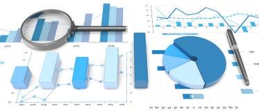 positiva grafer för stång 3d Stock Illustrationer
