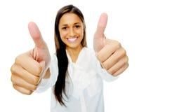 positiva tum för gest upp Fotografering för Bildbyråer