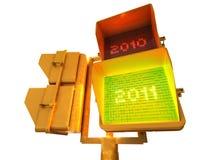 Positive 2011 3d semaphore Stock Image