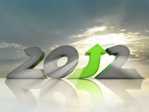 Positive 2012. Business growth in 2012. Message of hope and prosperity Royalty Free Stock Photography