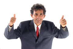 Positive. Businessman smiling and say positive with the hands Royalty Free Stock Images