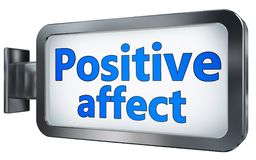 Positive affect on billboard. Positive affect wall light box billboard background , isolated on white Stock Image