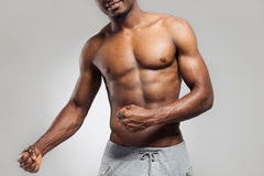 Positive african american muscular man Royalty Free Stock Photo