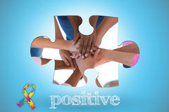 Positive against blue background with vignette Stock Photography