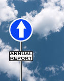 Positive annual report business background Royalty Free Stock Photography