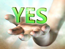 Positive answer Royalty Free Stock Images