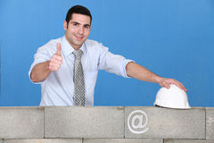A positive architect Royalty Free Stock Photo