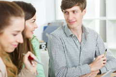 Positive atmosphere in work Royalty Free Stock Photography