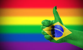 Positive attitude of Brazil for LGBT community Royalty Free Stock Photos