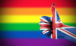 Positive attitude of Great Britain for LGBT community. Concept photo - Positive attitude of Great Britain for LGBT community Royalty Free Stock Image